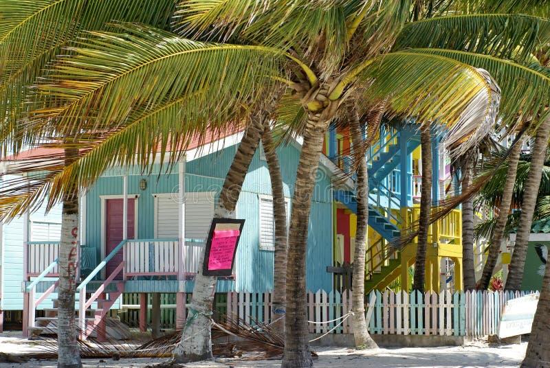 Kolorowy budynek na plaży zdjęcie royalty free