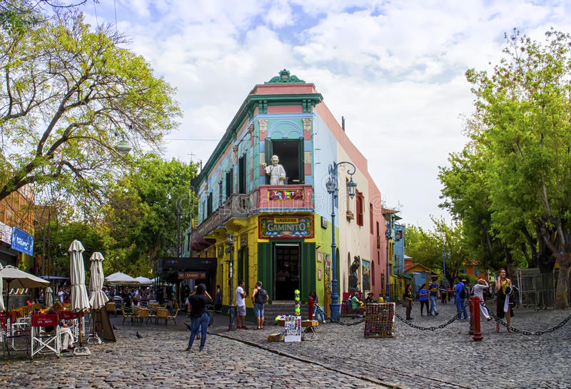 Kolorowy budynku los angeles Boca, Buenos Aires, Argentyna zdjęcia royalty free