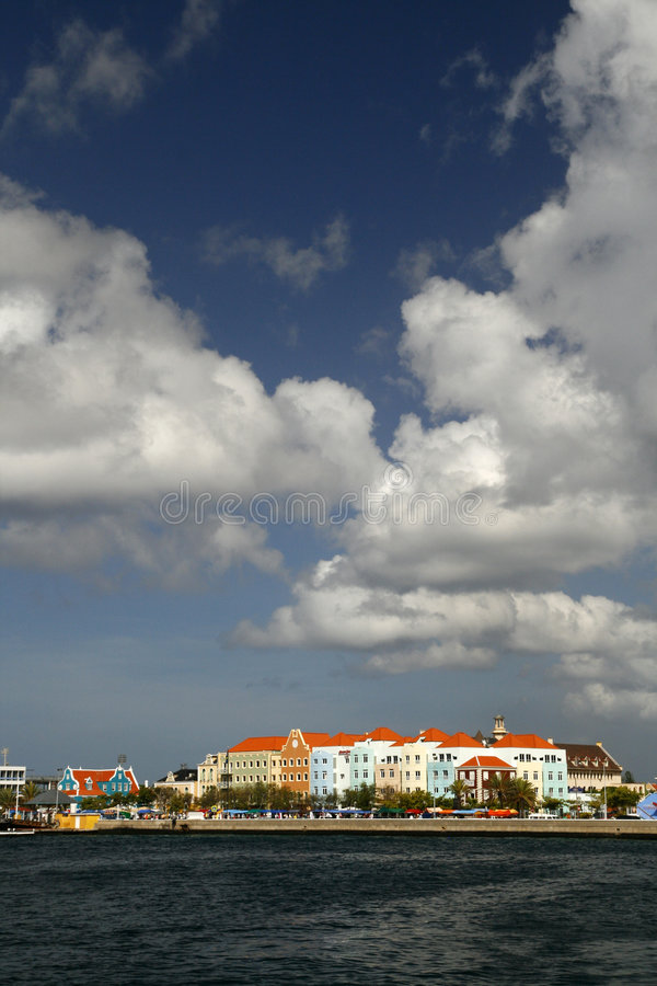 kolorowy buidings Curacao obraz royalty free