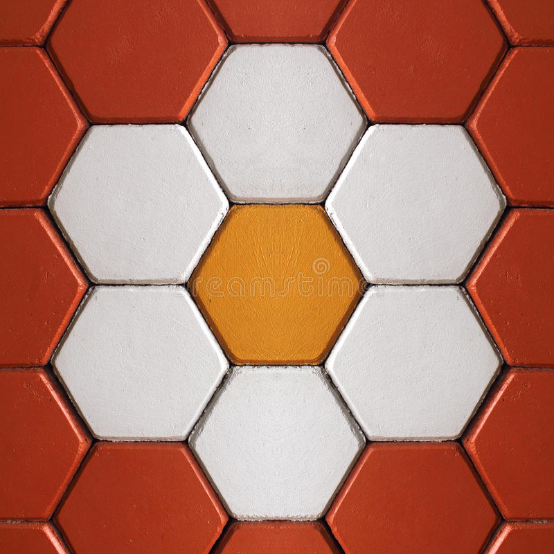 Kolorowy cegły podłoga tło obraz stock