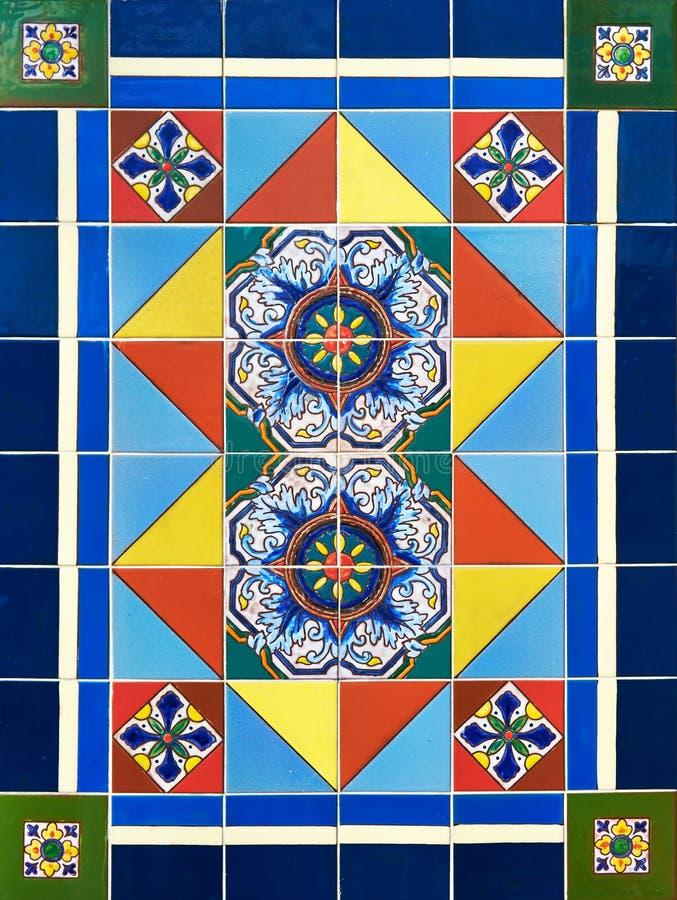 Kolorowy Ceramicznej płytki projekt fotografia royalty free
