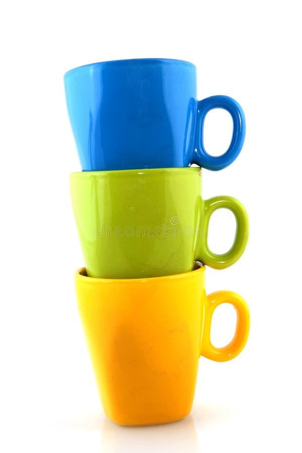 Download Kolorowy crockery zdjęcie stock. Obraz złożonej z napoje - 13327730