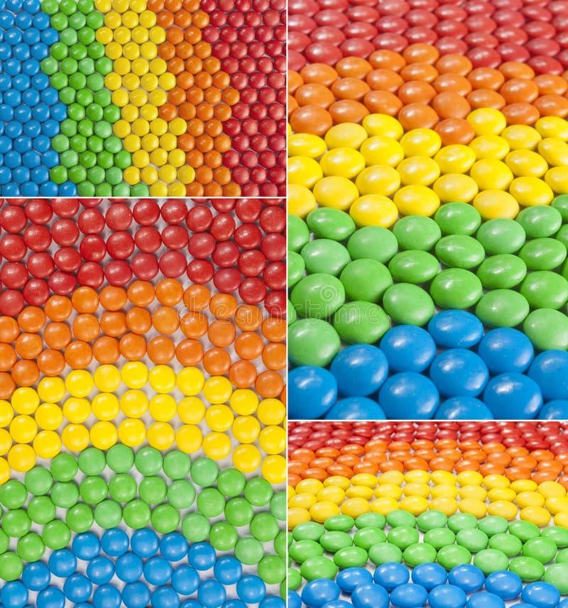 Kolorowy Czekoladowego cukierku kolaż obrazy royalty free
