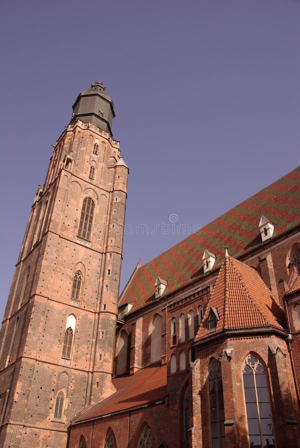 Kolorowy dach kościół zdjęcie stock