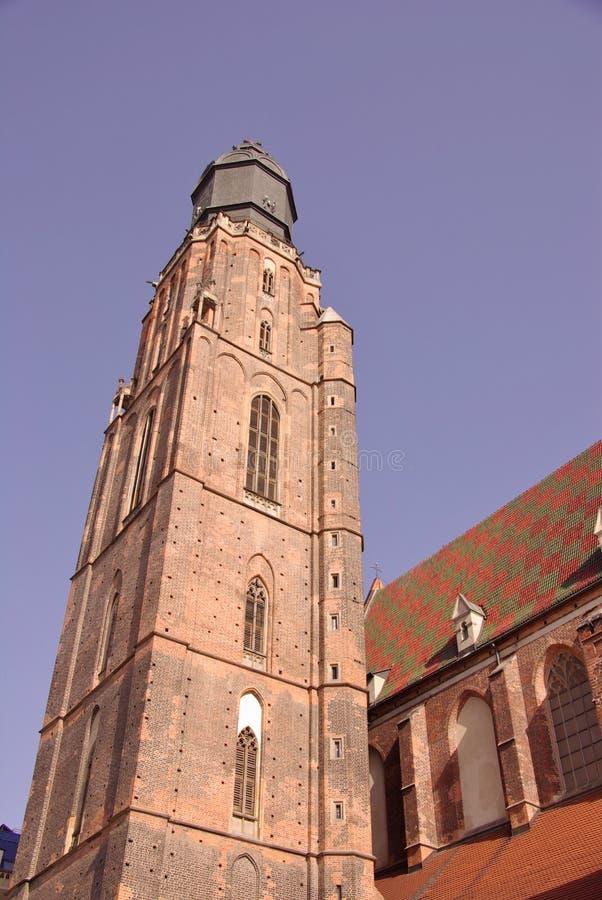 Kolorowy dach kościół zdjęcia stock