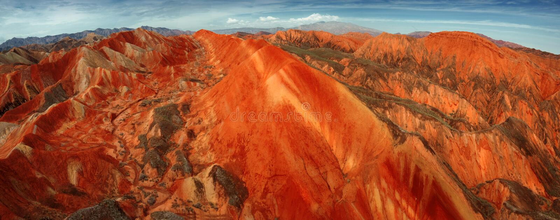 Kolorowy Danxia landform Zhangye obraz stock