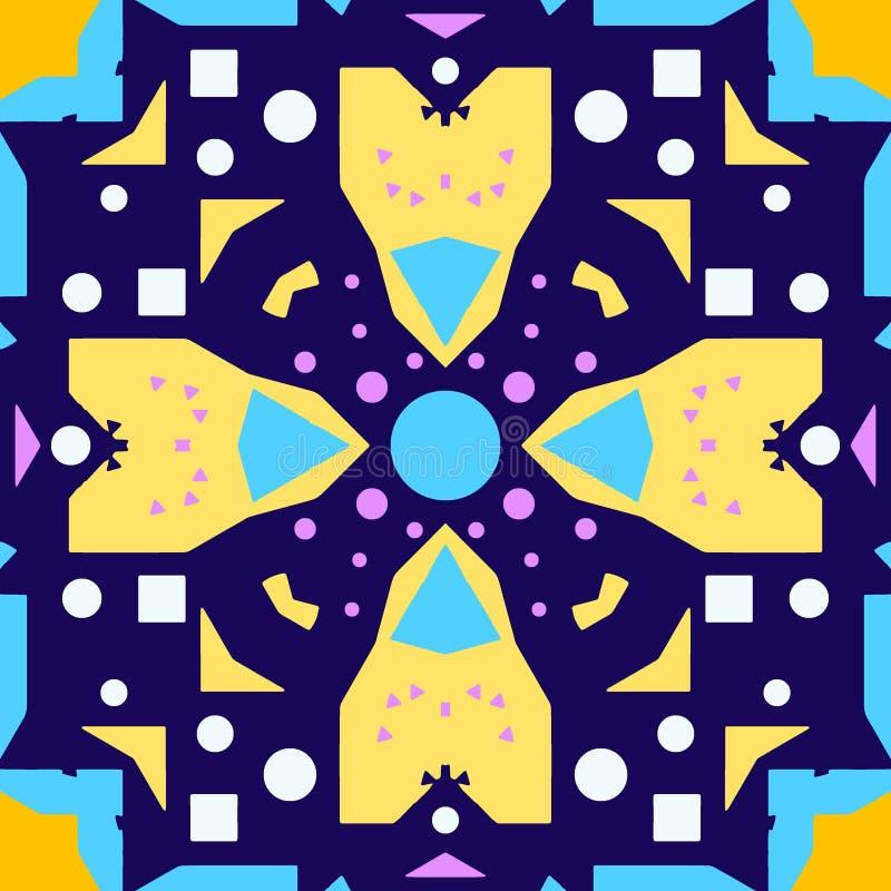 kolorowy dekoracyjny deseniowy bezszwowy royalty ilustracja