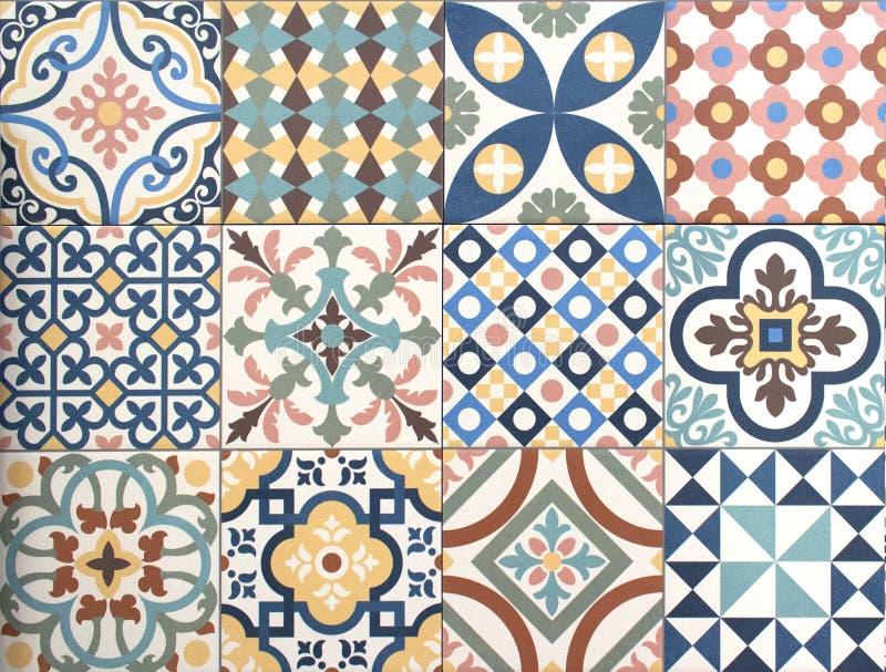 Kolorowy, dekoracyjny płytka wzoru patchworku projekt, fotografia royalty free