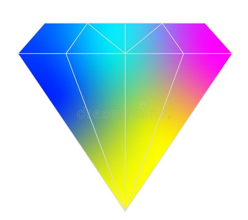 Kolorowy diamentowy wektor dla sieci i projekta obraz stock