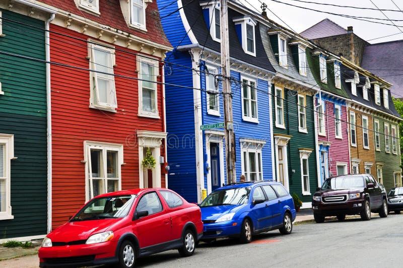 kolorowy domów John s st obrazy stock