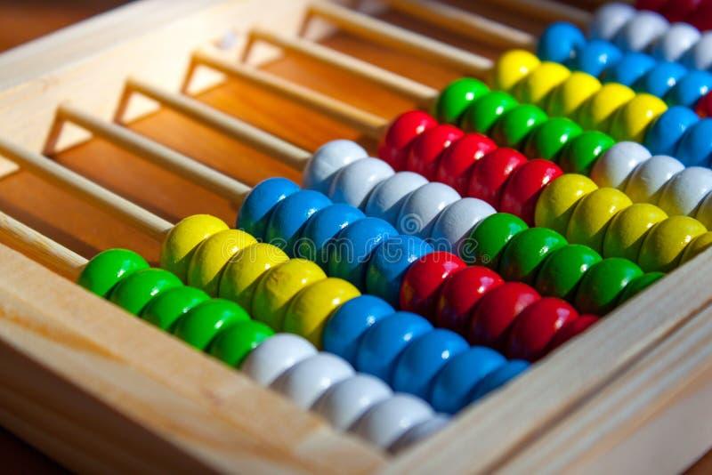 Kolorowy Drewniany abakus zdjęcie stock