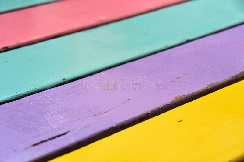 Kolorowy Drewniany deski tekstury tło fotografia stock
