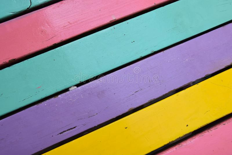 Kolorowy Drewniany deski tekstury tło zdjęcie stock