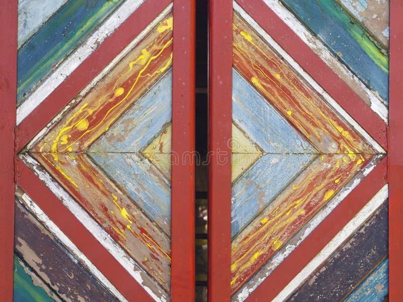 Kolorowy drewniany drzwi obraz royalty free