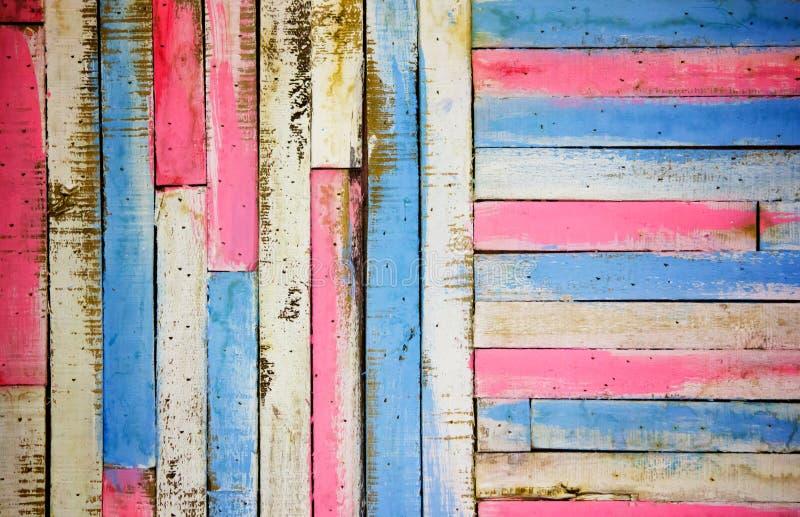 Kolorowy drewniany panelu tło, Abstrakcjonistyczna deska dla tekstury obraz royalty free