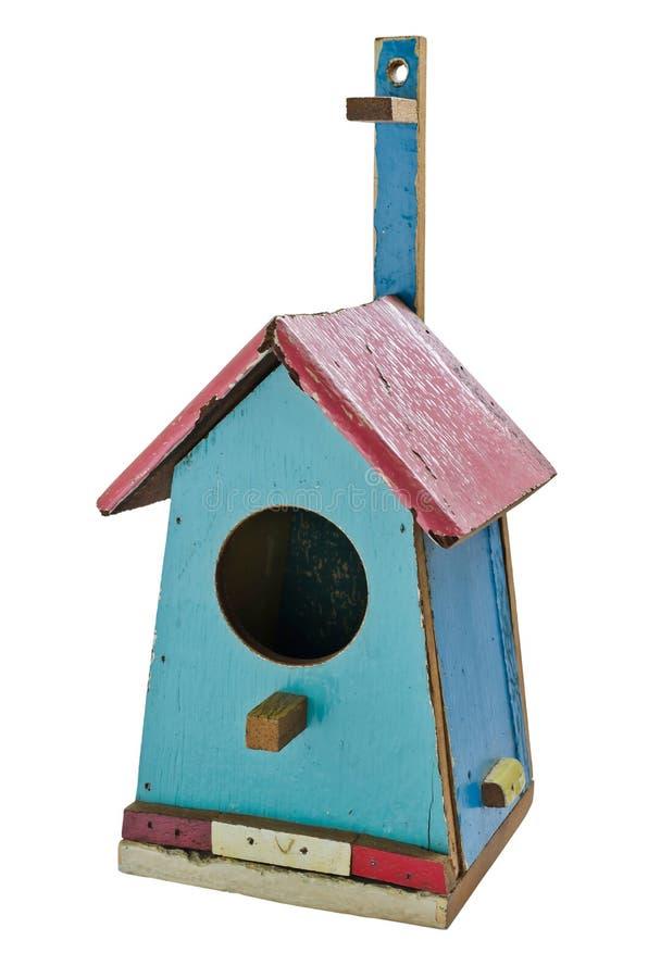 Kolorowy drewniany ptaka dom fotografia stock