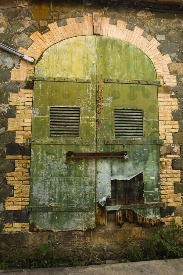 kolorowy drzwiowy stary obraz stock