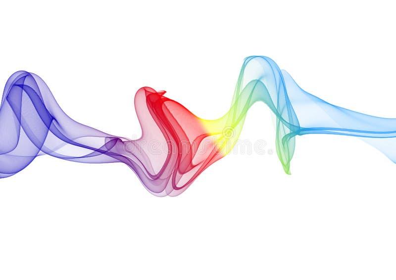 Kolorowy dym odizolowywający na Białym tle ilustracji