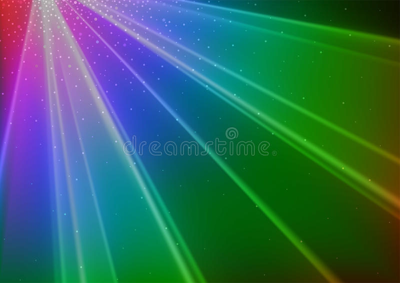 Kolorowy dyskoteki światła tło ilustracja wektor