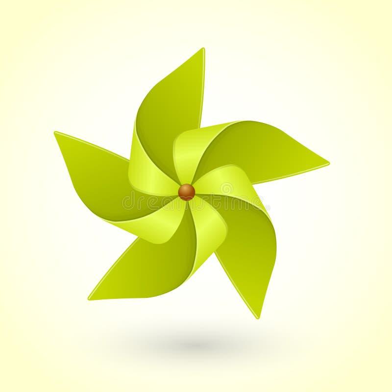 Kolorowy eco zieleni pinwheel ilustracji
