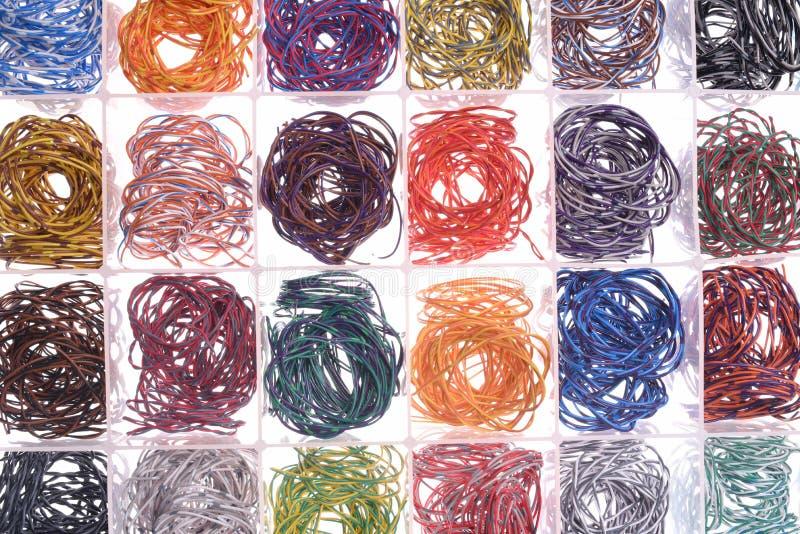 Kolorowy Elektrycznego drutu Złomowy Przetwarzać obrazy stock