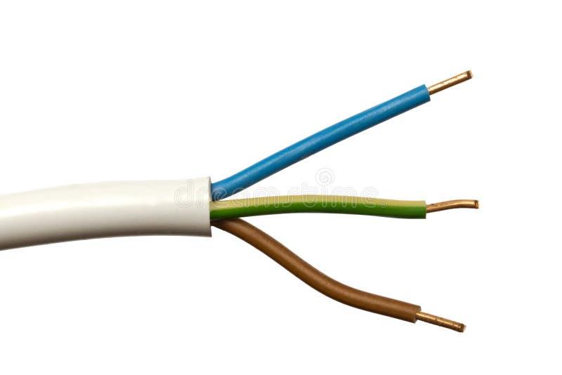 kolorowy elektryczny drut obrazy stock