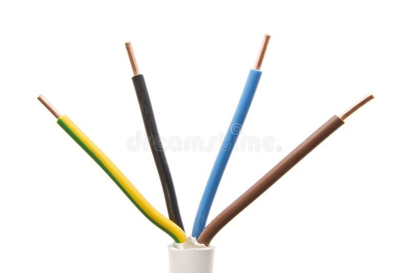 kolorowy elektryczny drut fotografia royalty free