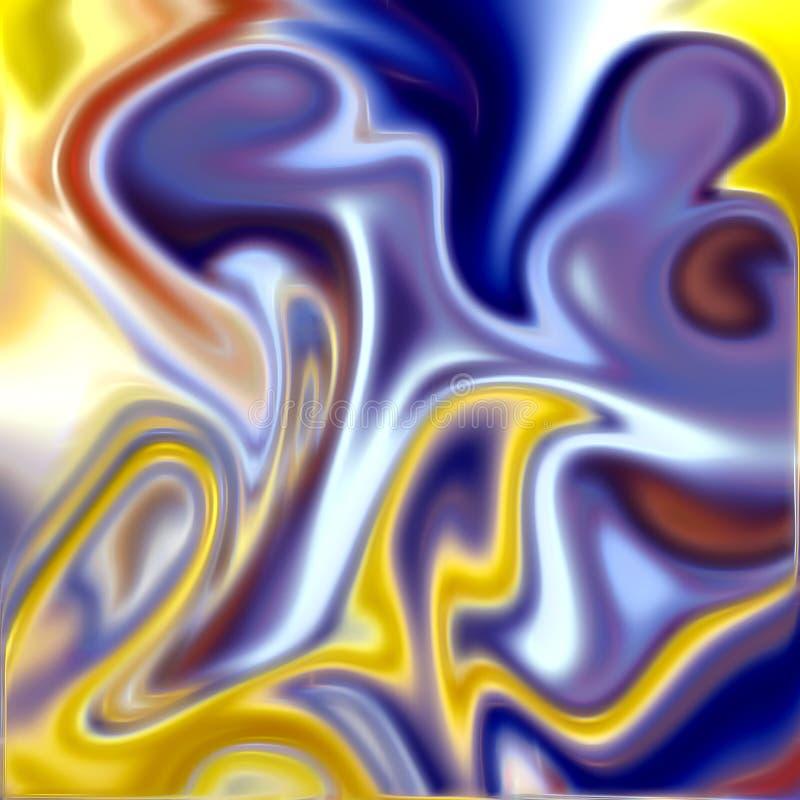 Kolorowy energetyczny tło w błękitnych i złotych odcieniach ilustracji