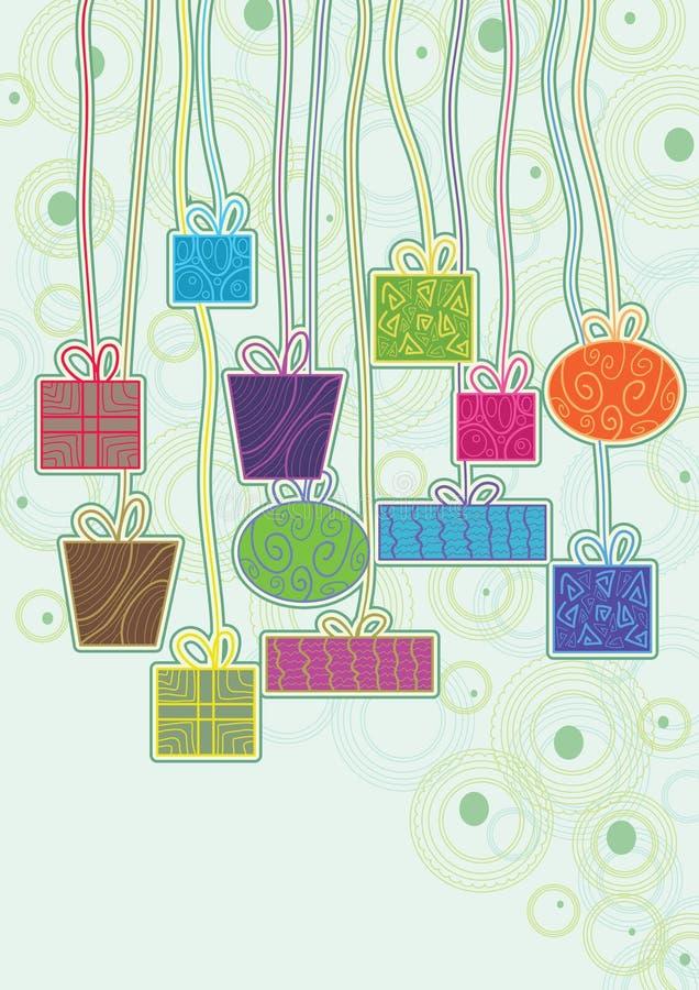 kolorowy eps prezentów zrozumienie ilustracja wektor