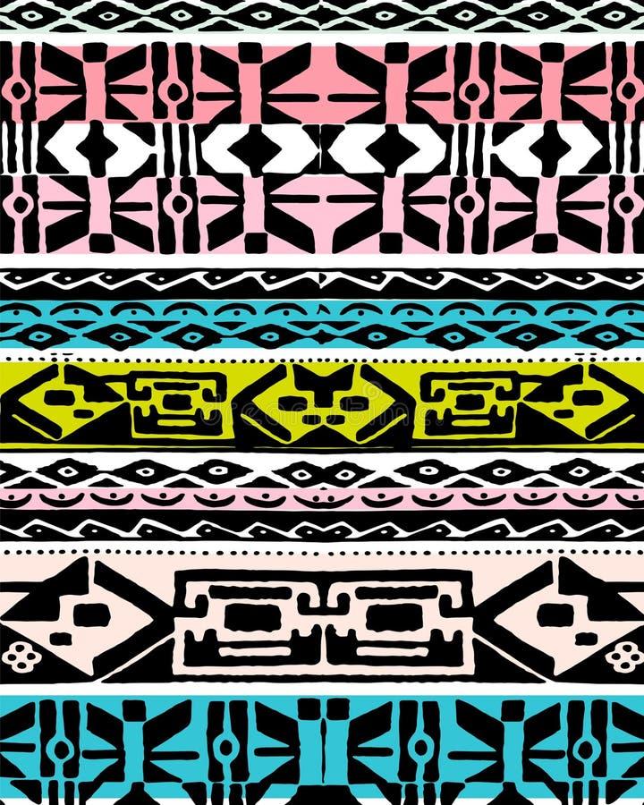 Kolorowy etniczny projekt ilustracja wektor
