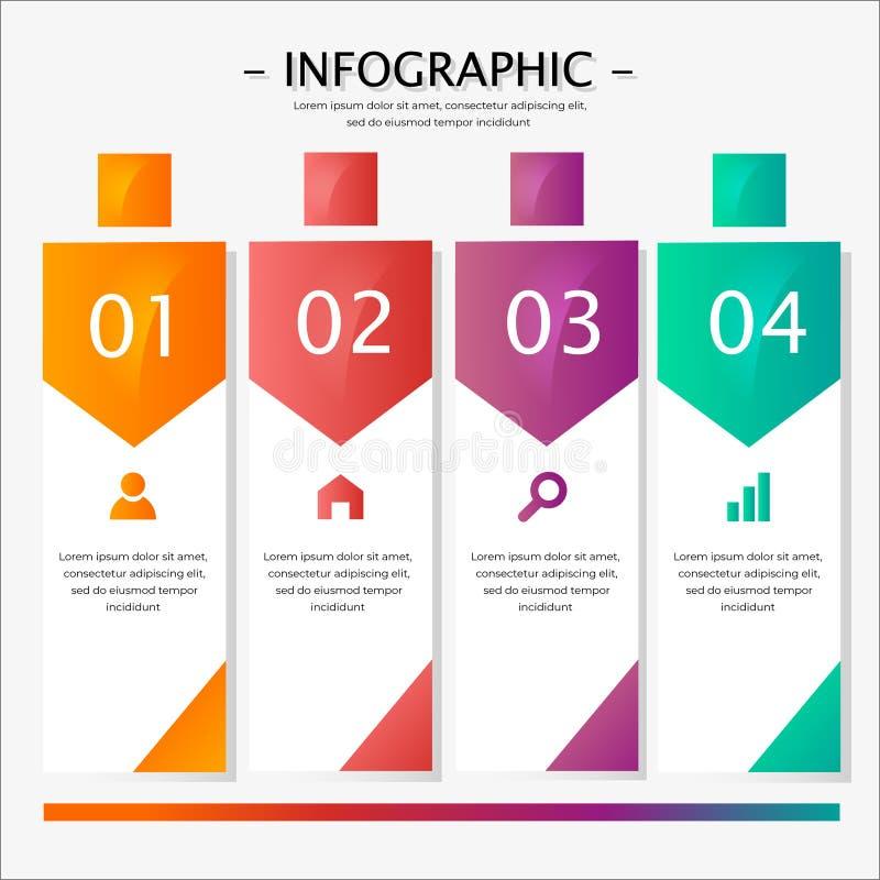 Kolorowy ewidencyjny graficzny płaski projekt zdjęcia stock