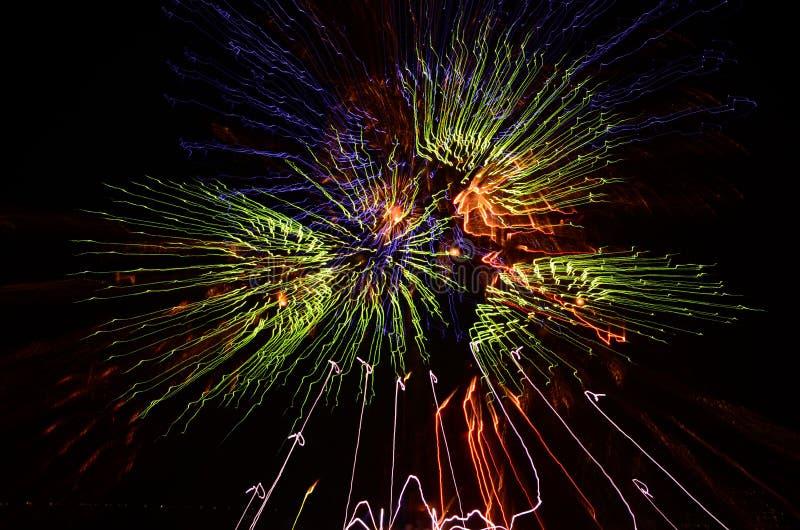 Kolorowy fajerwerku pokaz obrazy stock
