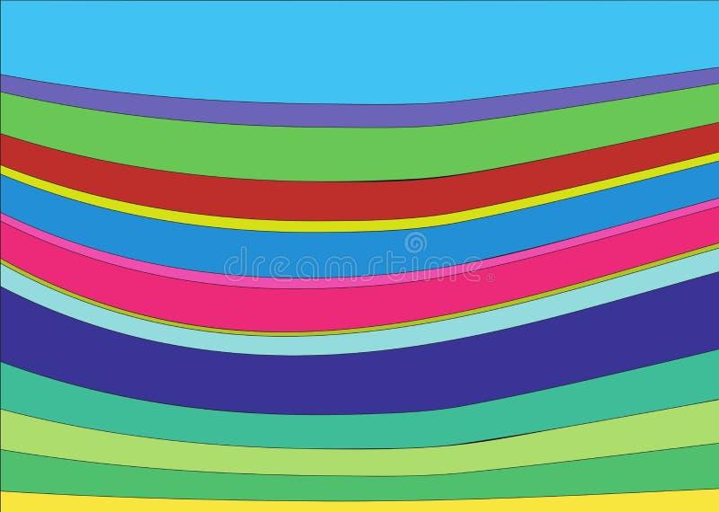 Kolorowy fala obrazek obrazy royalty free