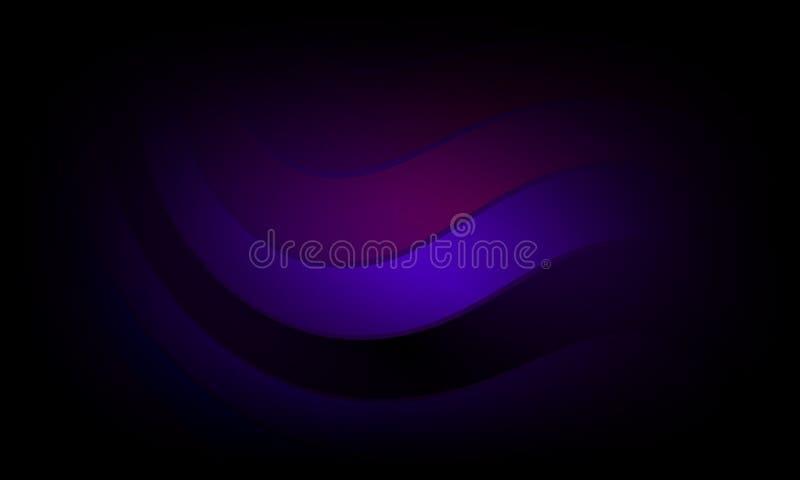 Kolorowy falowy abstrakcjonistyczny tło z oświetleniowym skutkiem, gładka, koszowa, wektorowa ilustracja, ilustracja wektor