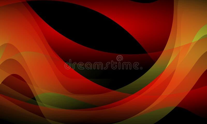 Kolorowy falowy abstrakcjonistyczny tło z oświetleniowym skutkiem, gładka, koszowa, wektorowa ilustracja, ilustracji