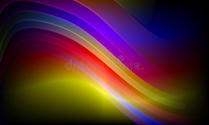 Kolorowy falowy abstrakcjonistyczny t?o, tapeta Ilustracja, krzywa royalty ilustracja