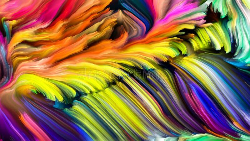 Kolorowy farba abstrakt royalty ilustracja