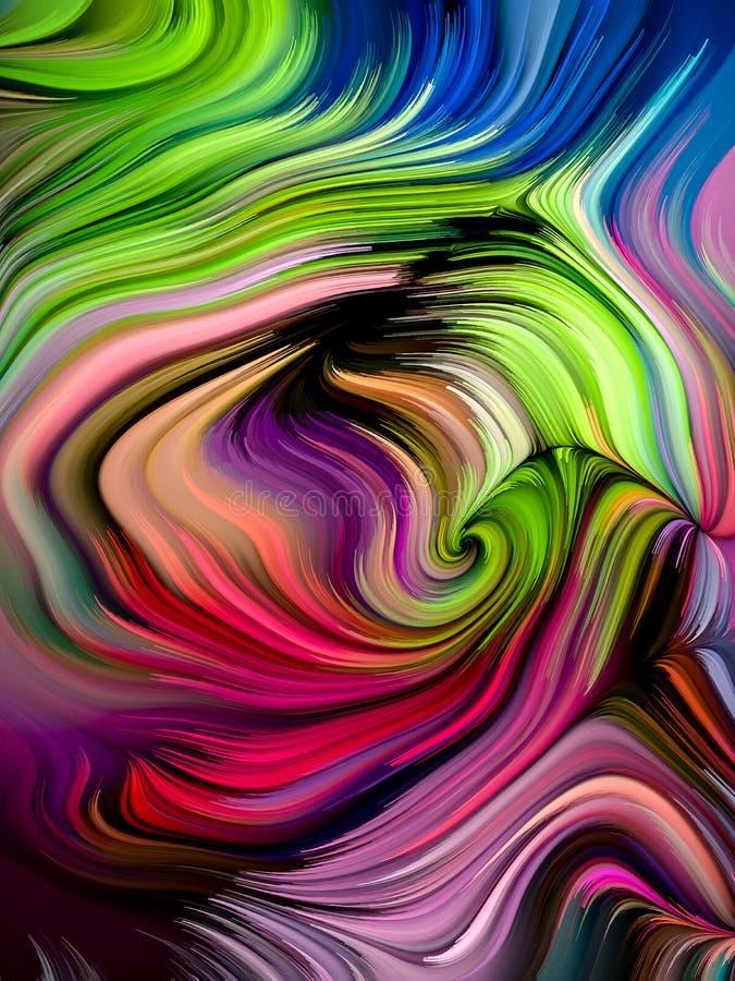 Kolorowy farba abstrakt ilustracja wektor