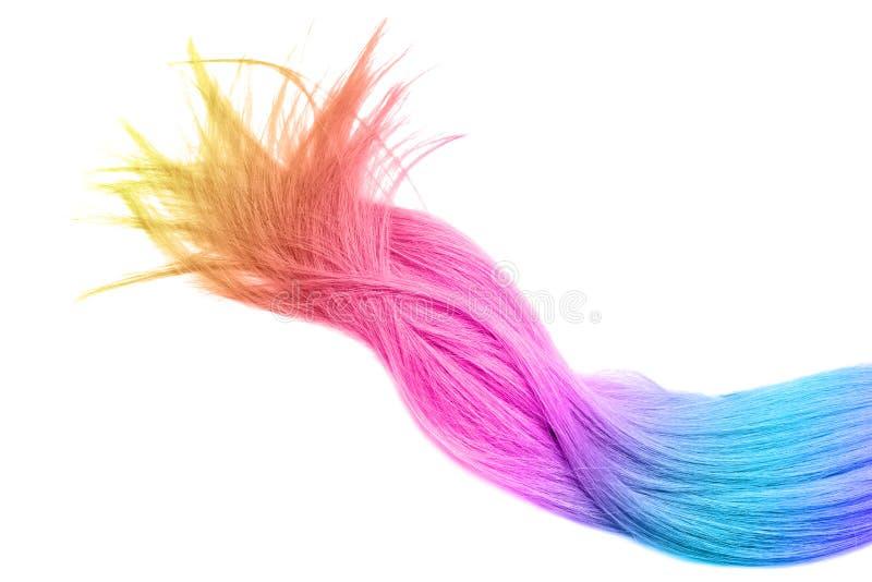 Kolorowy farbujący włosy na białym tle fotografia royalty free