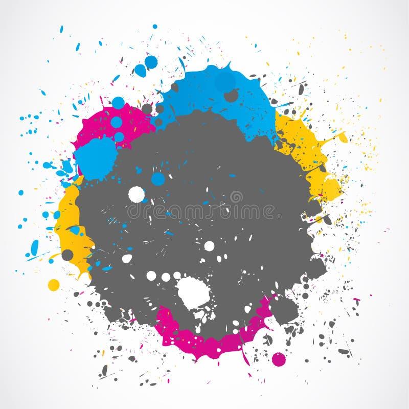 Kolorowy farby pluśnięcia tło royalty ilustracja