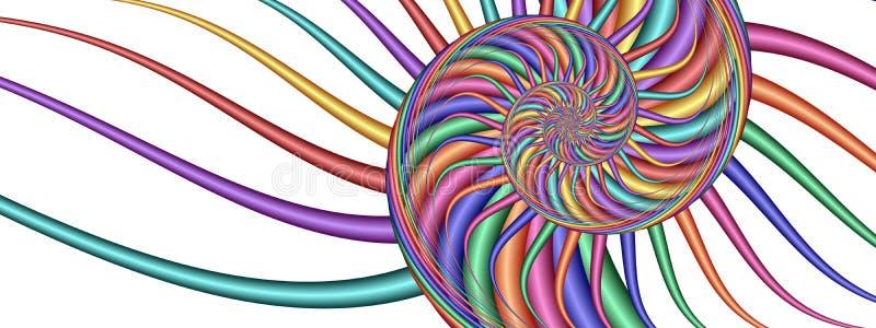 kolorowy fractal kwiatek obrazu royalty ilustracja