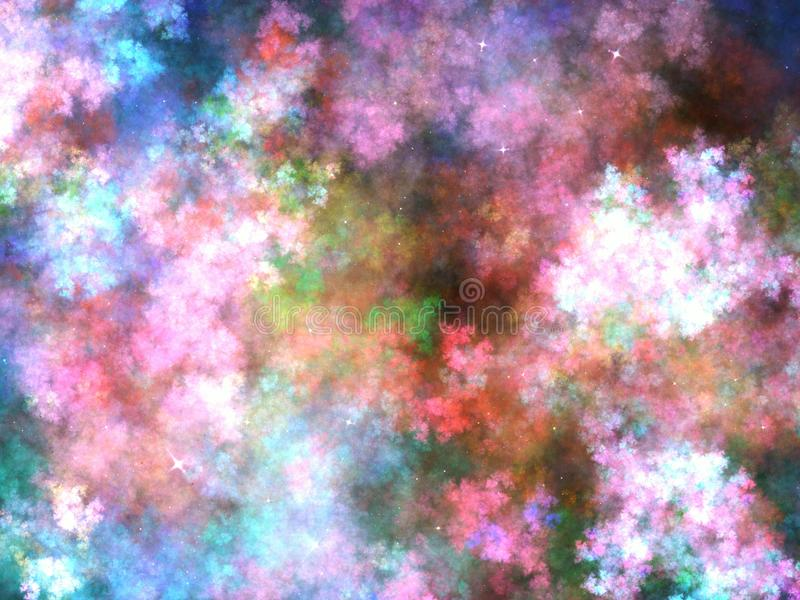 Kolorowy fractal niebo ilustracji