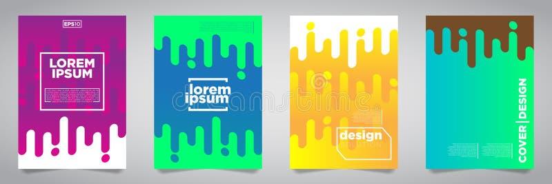 Kolorowy Futurystyczny minimalista pokryw projekt EPS10 wektorowa ilustracja ilustracji
