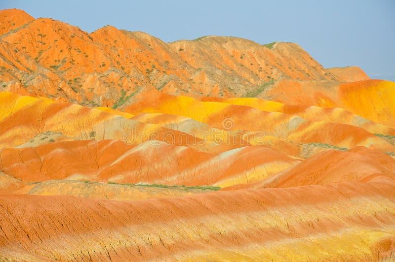 Kolorowy góry landform zdjęcia stock