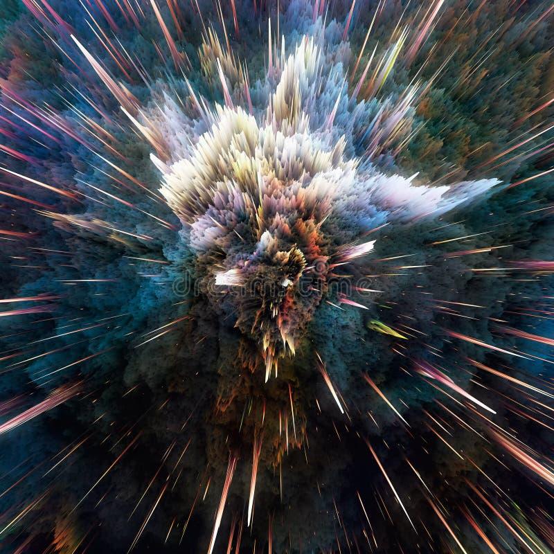 Kolorowy galaxy chmurnieje i duża uderzenie abstrakta gwiazdy tekstura obraz royalty free