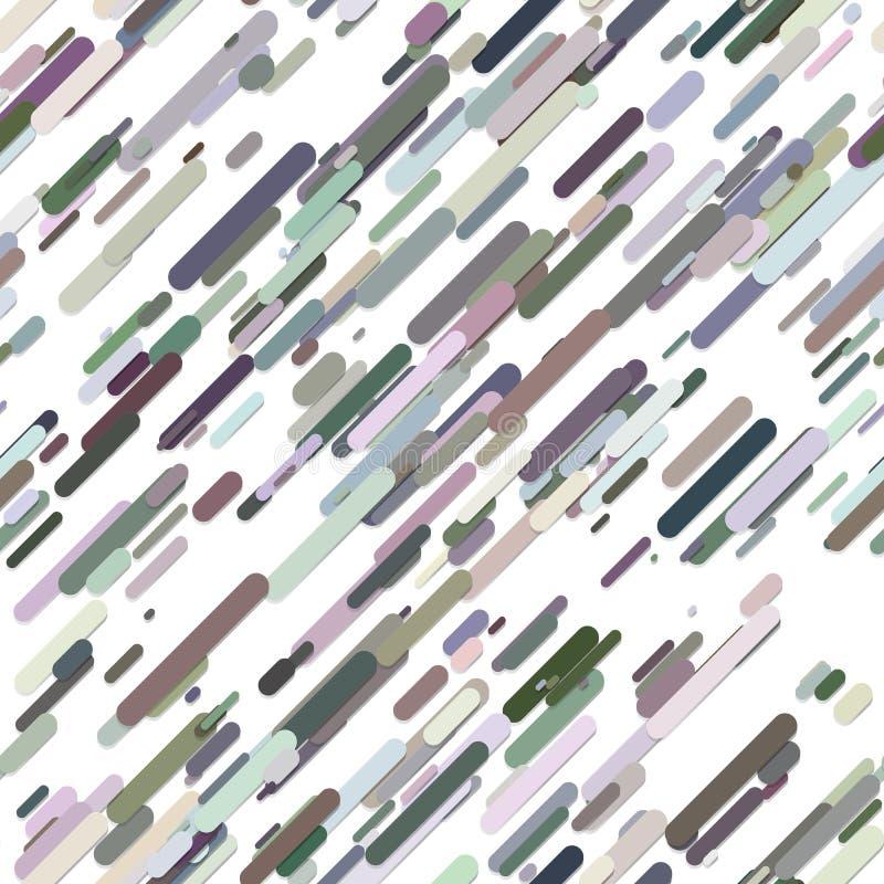 Kolorowy geometrical przypadkowy diagonalny lampasa wzoru tło - modny wektorowy projekt od zaokrąglonych lampasów ilustracji