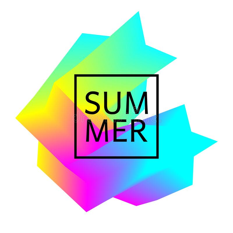 Kolorowy geometrycznego projekta element ilustracji
