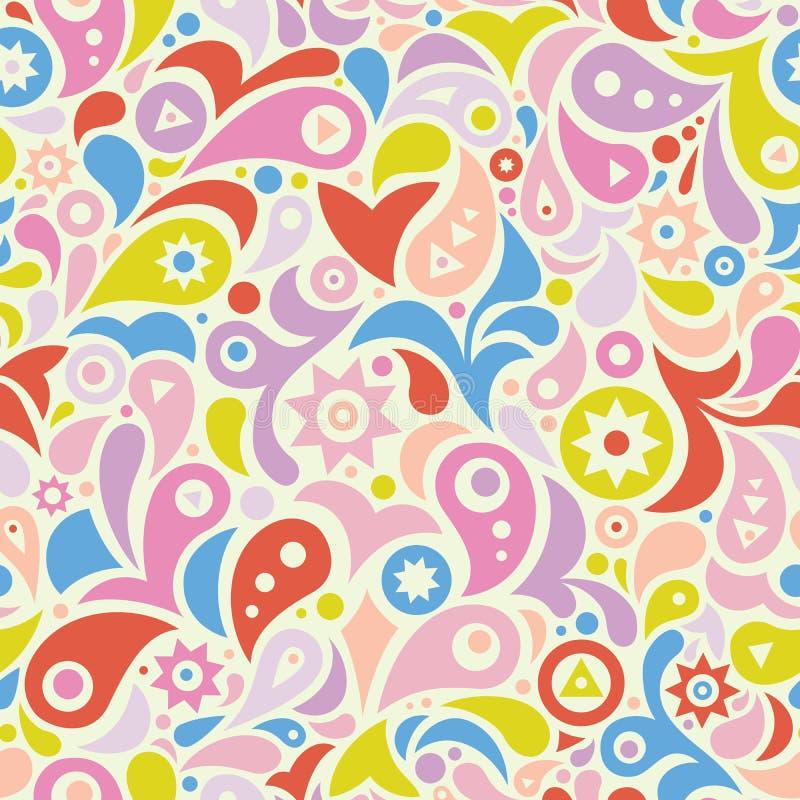Kolorowy geometryczny bezszwowy wzór zdjęcia royalty free