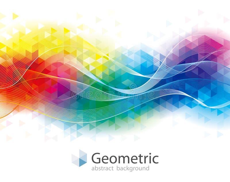 Kolorowy Geometryczny i falowy tło royalty ilustracja