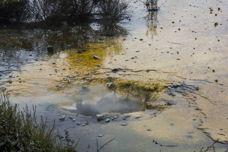 Kolorowy Geotermiczny tarasu i kontrpary wydźwignięcie obraz stock